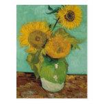 Vase with three sunflowers, Vincent van Gogh Postcard