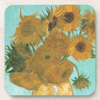 Vase with Twelve Sunflowers by Vincent van Gogh Beverage Coaster