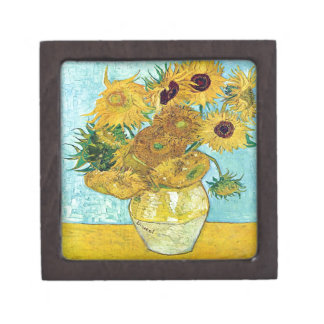 Vase With Twelve Sunflowers By Vincent Van Gogh Gift Box