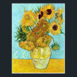 "Vase With Twelve Sunflowers By Vincent Van Gogh Postcard<br><div class=""desc"">To the best of my knowledge these images are in public domain and believed to be free to use without restriction in the US. 