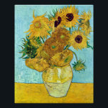 """Vase With Twelve Sunflowers By Vincent Van Gogh Poster<br><div class=""""desc"""">To the best of my knowledge these images are in public domain and believed to be free to use without restriction in the US.   Please contact me if you discover that any of these images are not in Public Domain.</div>"""