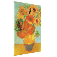 vase with twelve sunflowers, Van Gogh Canvas Prints