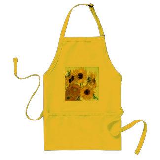 Vase with Twelve Sunflowers, Van Gogh Fine Art Adult Apron