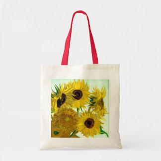 Vase with Twelve Sunflowers, Van Gogh Fine Art Budget Tote Bag