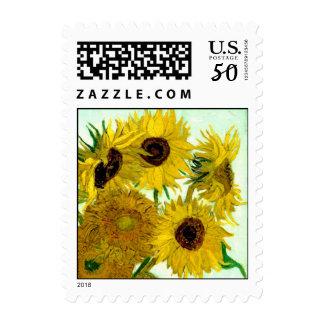 Vase with Twelve Sunflowers, Van Gogh Fine Art Postage