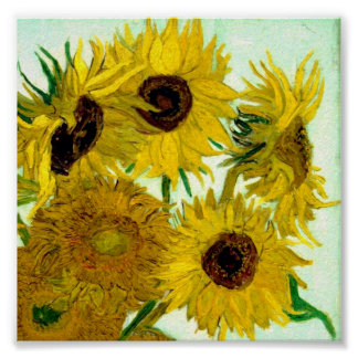 Vase with Twelve Sunflowers, Van Gogh Fine Art Poster