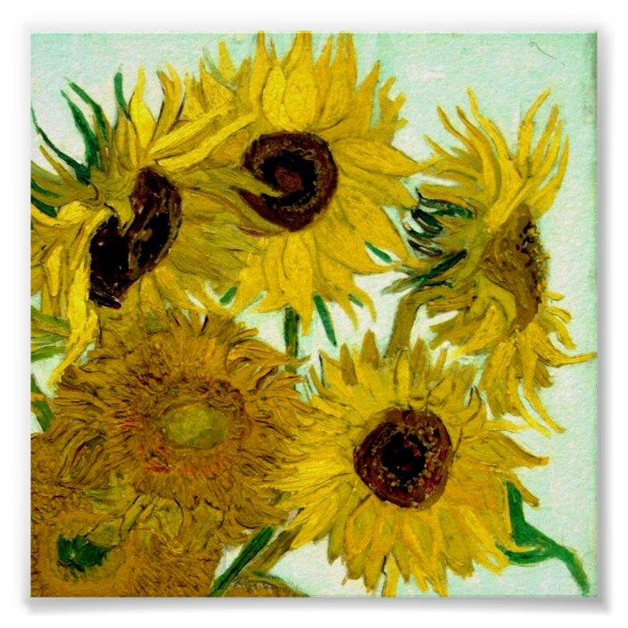 Sunflower  Vase Amazing Grace I Once Was Glossy Poster No Frame Home Wall Decor