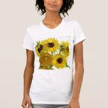 Vase with Twelve Sunflowers, Van Gogh Fine Art T-shirts