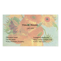 Vase with Twelve Sunflowers, Vincent van Gogh. Business Cards