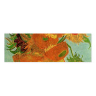Vase with Twelve Sunflowers, Vincent van Gogh. Business Card
