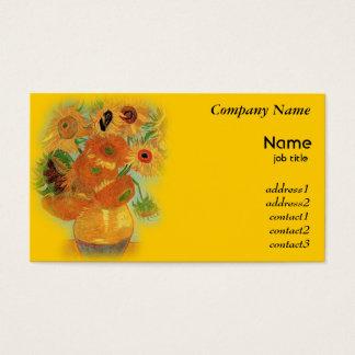 Vase with twelve sunflowers, Vincent van Gogh Business Card