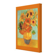 Vase with Twelve Sunflowers  Vincent van Gogh. Stretched Canvas Print