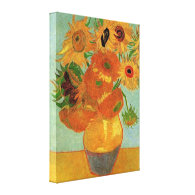 Vase with Twelve Sunflowers  Vincent van Gogh. Canvas Prints