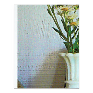 Vase with Wildflowers 4.25x5.5 Paper Invitation Card