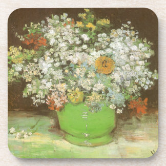 Vase with Zinnias and Flowers by Vincent van Gogh Coaster
