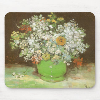 Vase with Zinnias and Flowers by Vincent van Gogh Mouse Pad