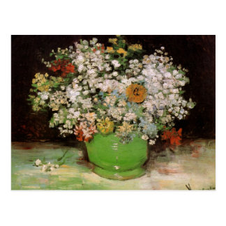 Vase with Zinnias and Other Flowers by Van Gogh Postcard