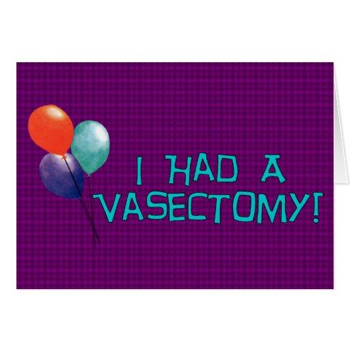 Vasectomía Tarjetón