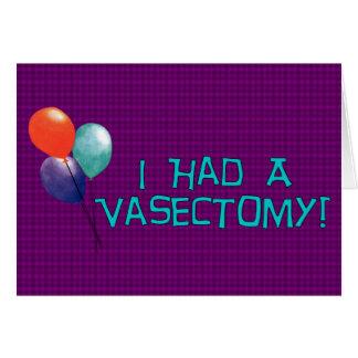 Vasectomy Card