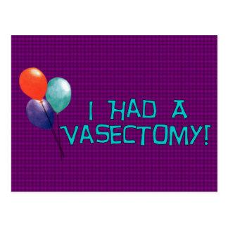 Vasectomy Postcard
