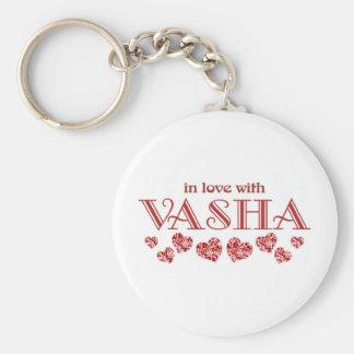 Vasha Basic Round Button Keychain