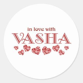 Vasha Classic Round Sticker