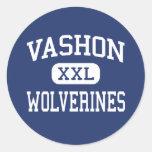 Vashon - Wolverines - High - Saint Louis Missouri Round Sticker