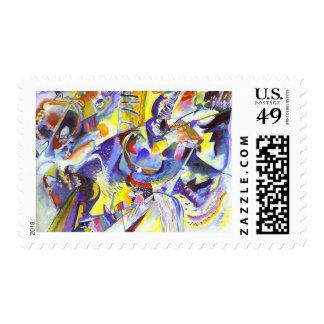 Vasily Kandinsky - Gorge Improvisation Postage Stamps