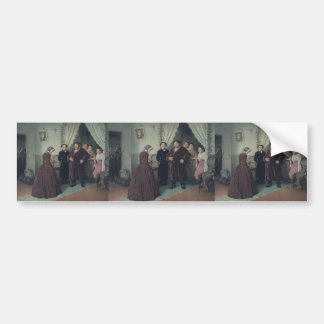 Vasily Perov- Arrival of Governess in a House Bumper Sticker