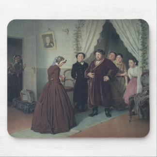 Vasily Perov- Arrival of Governess in a House Mousepad