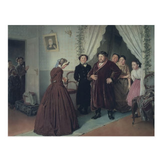 Vasily Perov- Arrival of Governess in a House Postcard