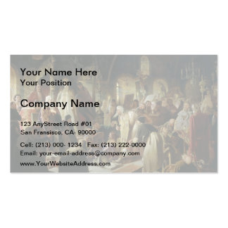 Vasily Perov- Dispute on the Confession of Faith Business Card Templates