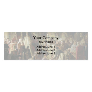 Vasily Perov- Dispute on the Confession of Faith Business Card Template