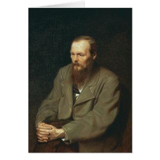 Vasily Perov-Portrait of Author Feodor Dostoyevsky Greeting Card