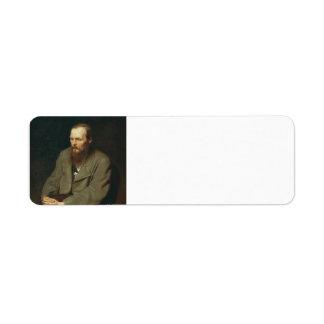 Vasily Perov-Portrait of Author Feodor Dostoyevsky Custom Return Address Labels