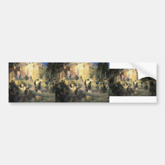 Vasily Polenov- A depiction of Jesus and the woman Car Bumper Sticker