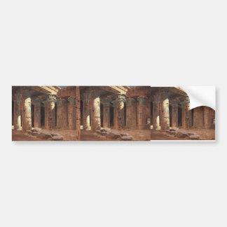 Vasily Polenov-The Temple of Isis on Philae island Car Bumper Sticker