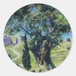 Vasily Polenov- un olivo en el jardín Pegatina Redonda