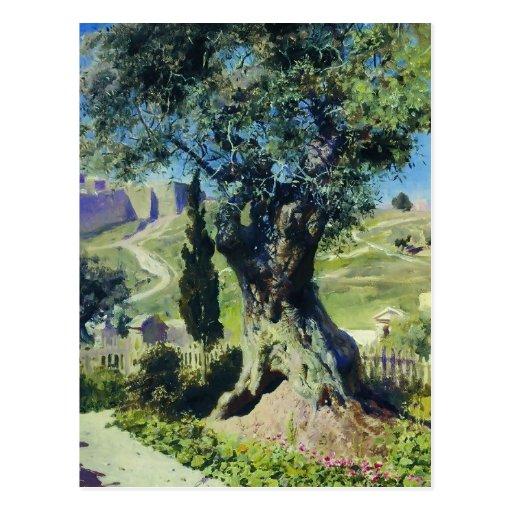 Vasily Polenov- un olivo en el jardín Postales