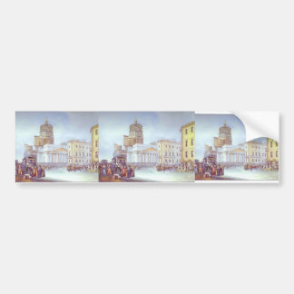 Vasily Sadovnikov- Departure of an Omnibus Bumper Stickers
