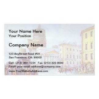 Vasily Sadovnikov- Departure of an Omnibus Business Card Template