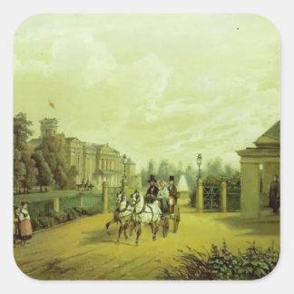 Vasily Sadovnikov: Entrada en el palacio de Colcomanias Cuadradass