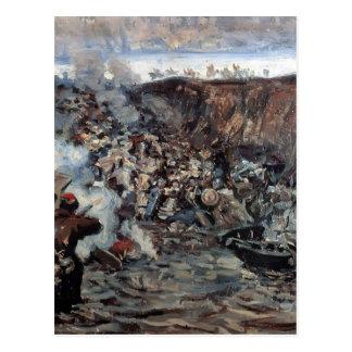 Vasily Surikov: La conquista de Siberia por Yermak Tarjeta Postal