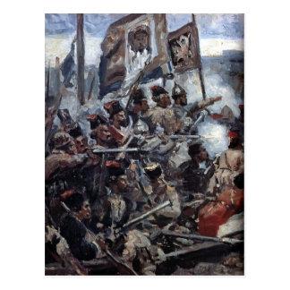 Vasily Surikov: La conquista de Siberia por Yermak Postal