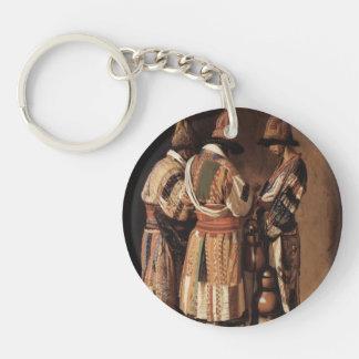 Vasily Vereshchagin- Dervishes in holiday costumes Single-Sided Round Acrylic Keychain