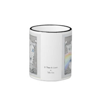 vaso aliento taza de dos colores