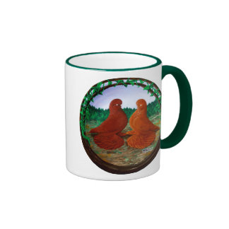 Vaso desperdiciado Pigeons2 Taza De Dos Colores