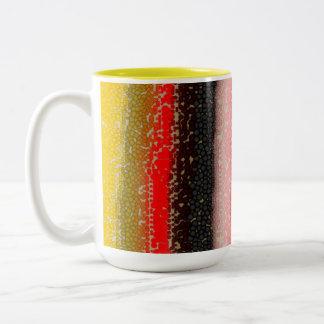Vaso multicolor de café, Coffee Cup Taza De Dos Tonos