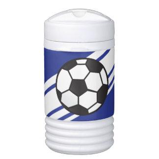 Vaso refrigerador personalizado del fútbol del azu enfriador de bebida igloo
