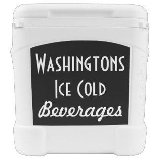 Vaso refrigerador personalizado retro cofre nevera con ruedas